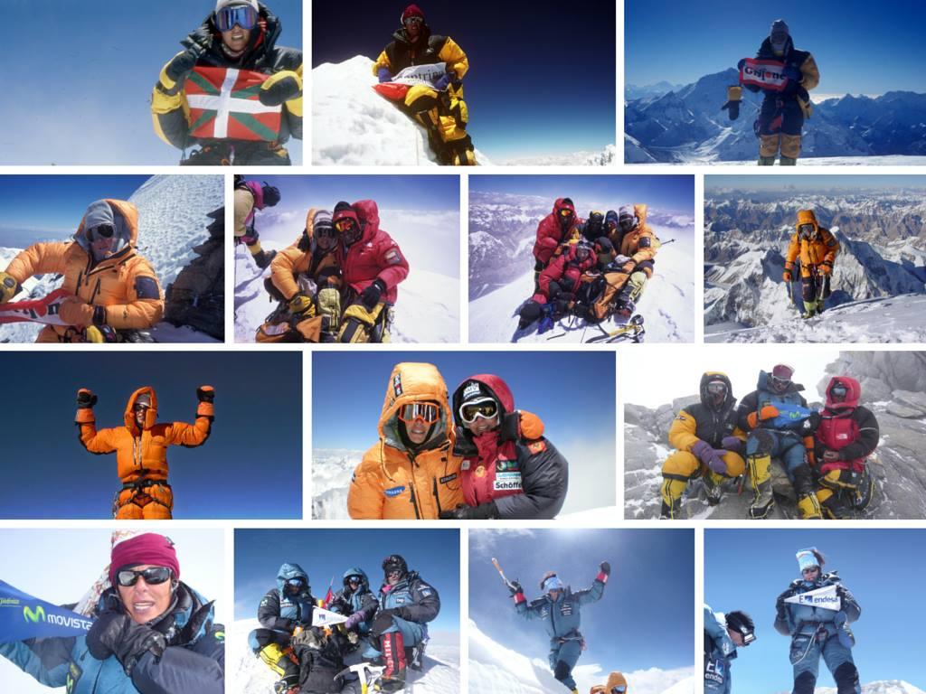 Edurne Pasaban on top of the world, 14 times over!