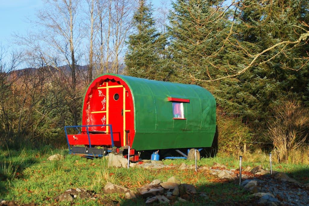 Fintown gypsey caravan coolest airbnb ireland