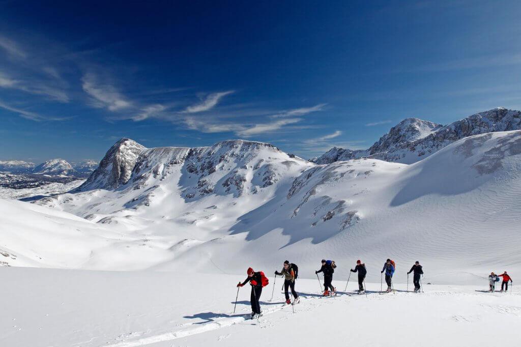 alternative ski holidays ski touring