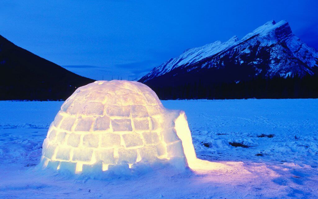 Igloo snowy activities ireland