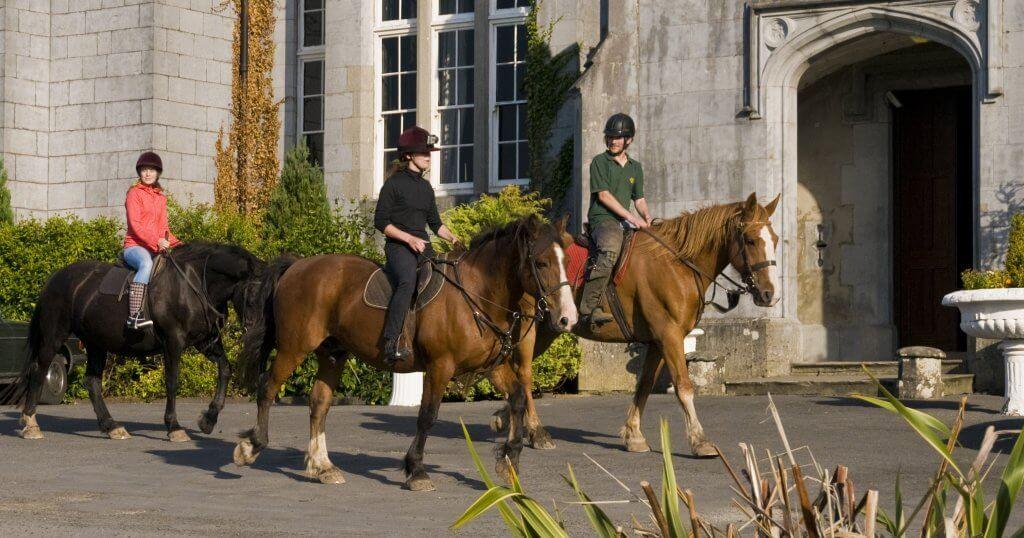 Horse riding at Kinnitty