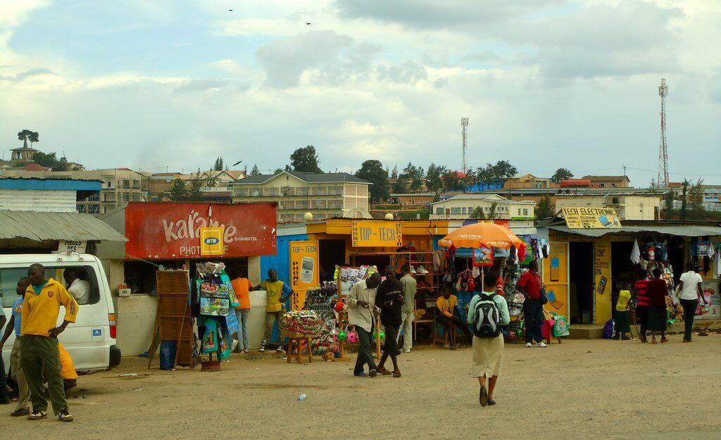Market in Rwanda.