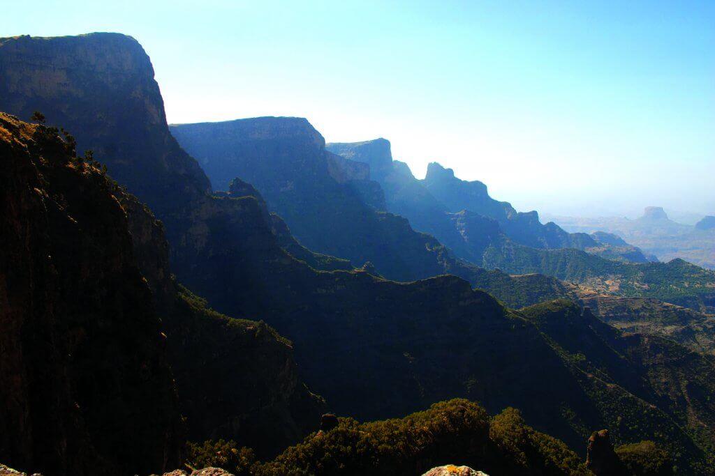 Ethiopians mountain peaks