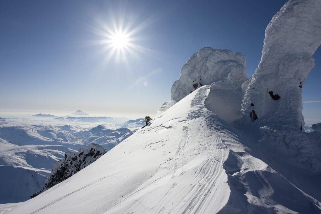 Heli-skiing in Kamchatka