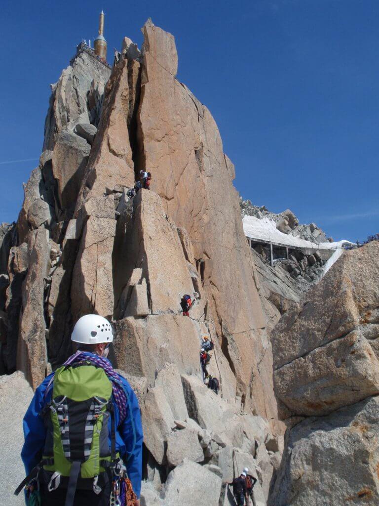 Climbing Cosmiques Arete