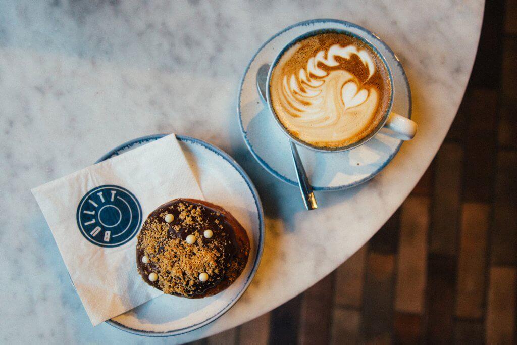 Bullitt Lobby - coffee and doughnut