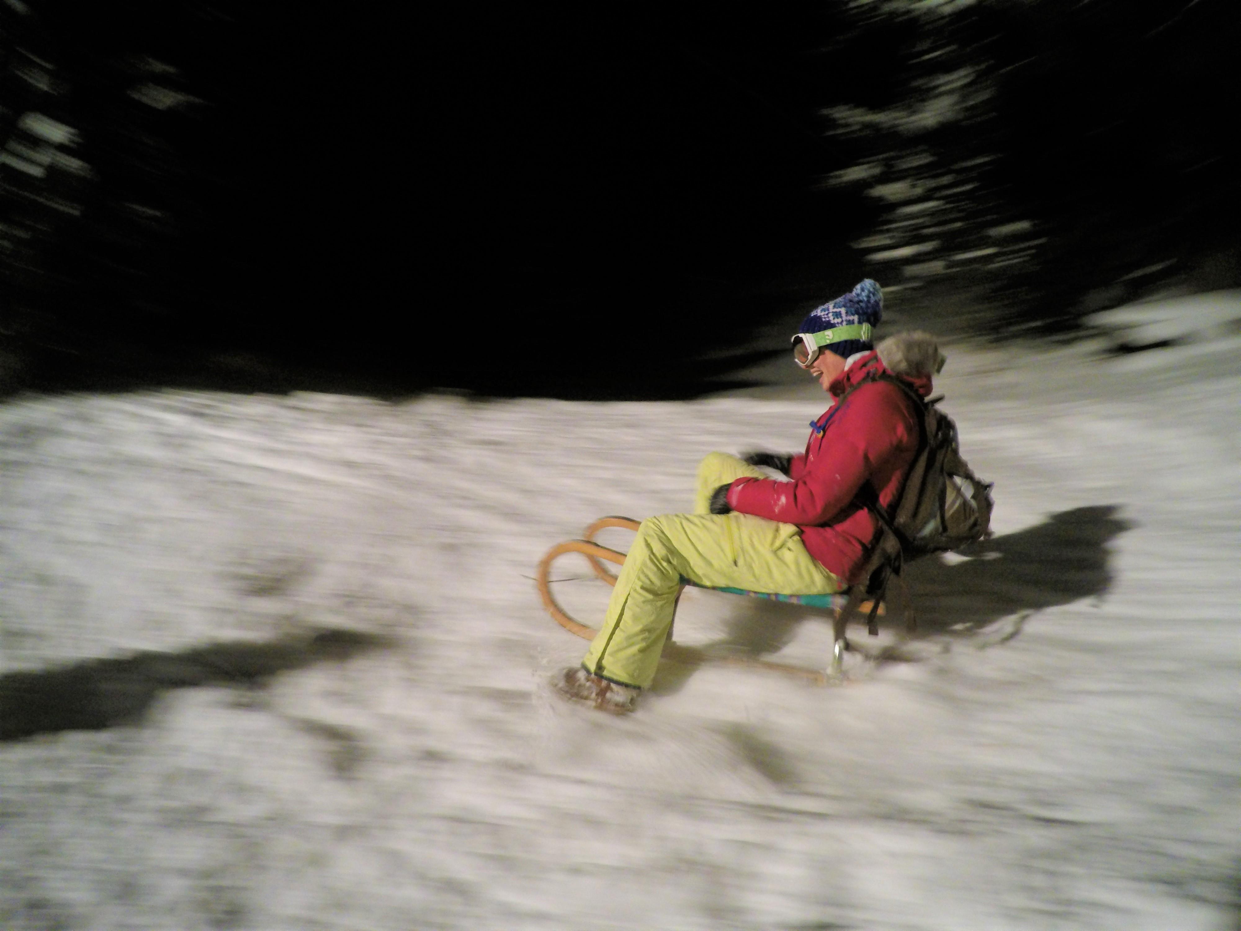Apres Ski St Anton Night Toboganning