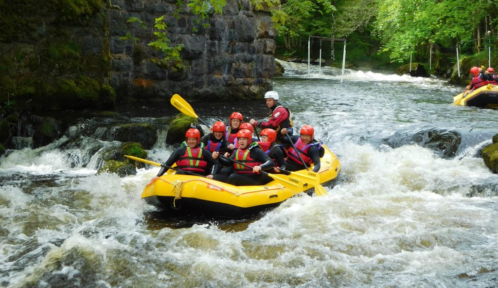 Activities in Wales white water rafting wales