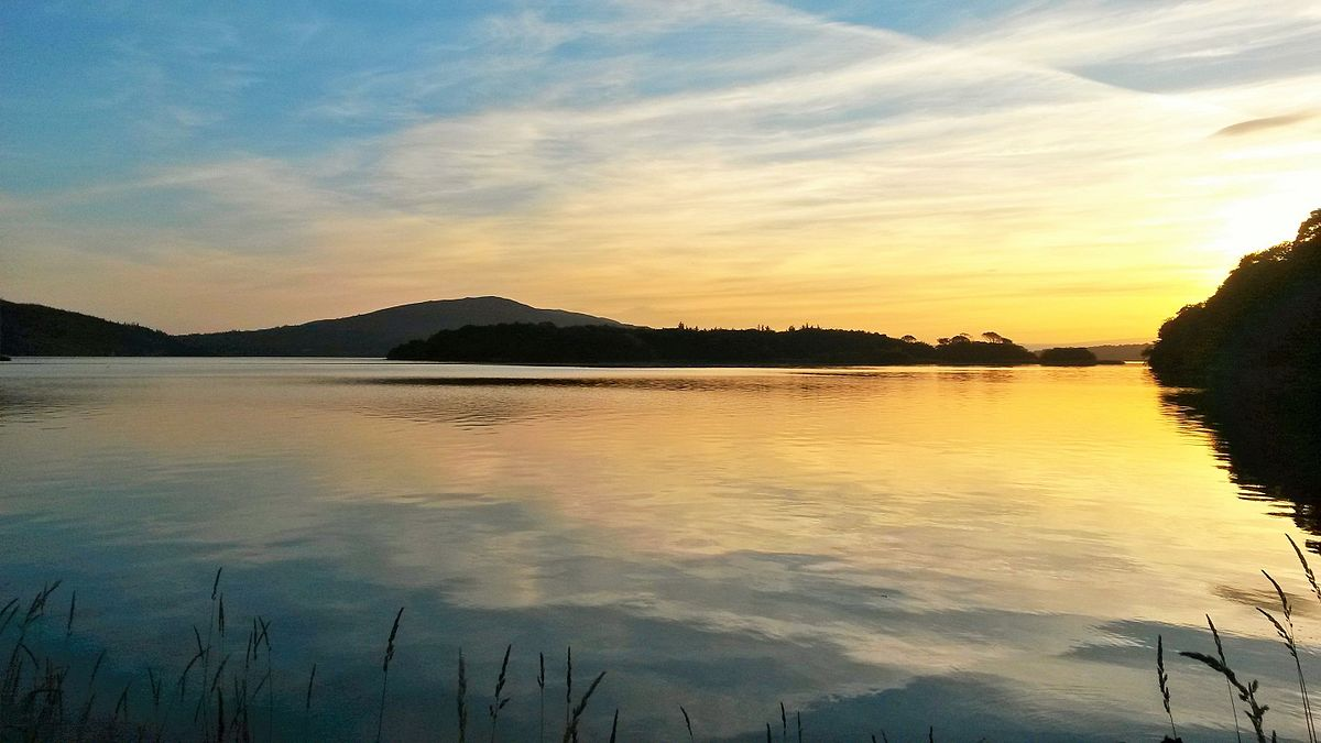 Irish bucket list Church_Island_sunset lough gill