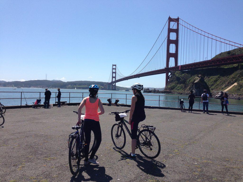 san francisco adventurous activities cycling golden gate bridge