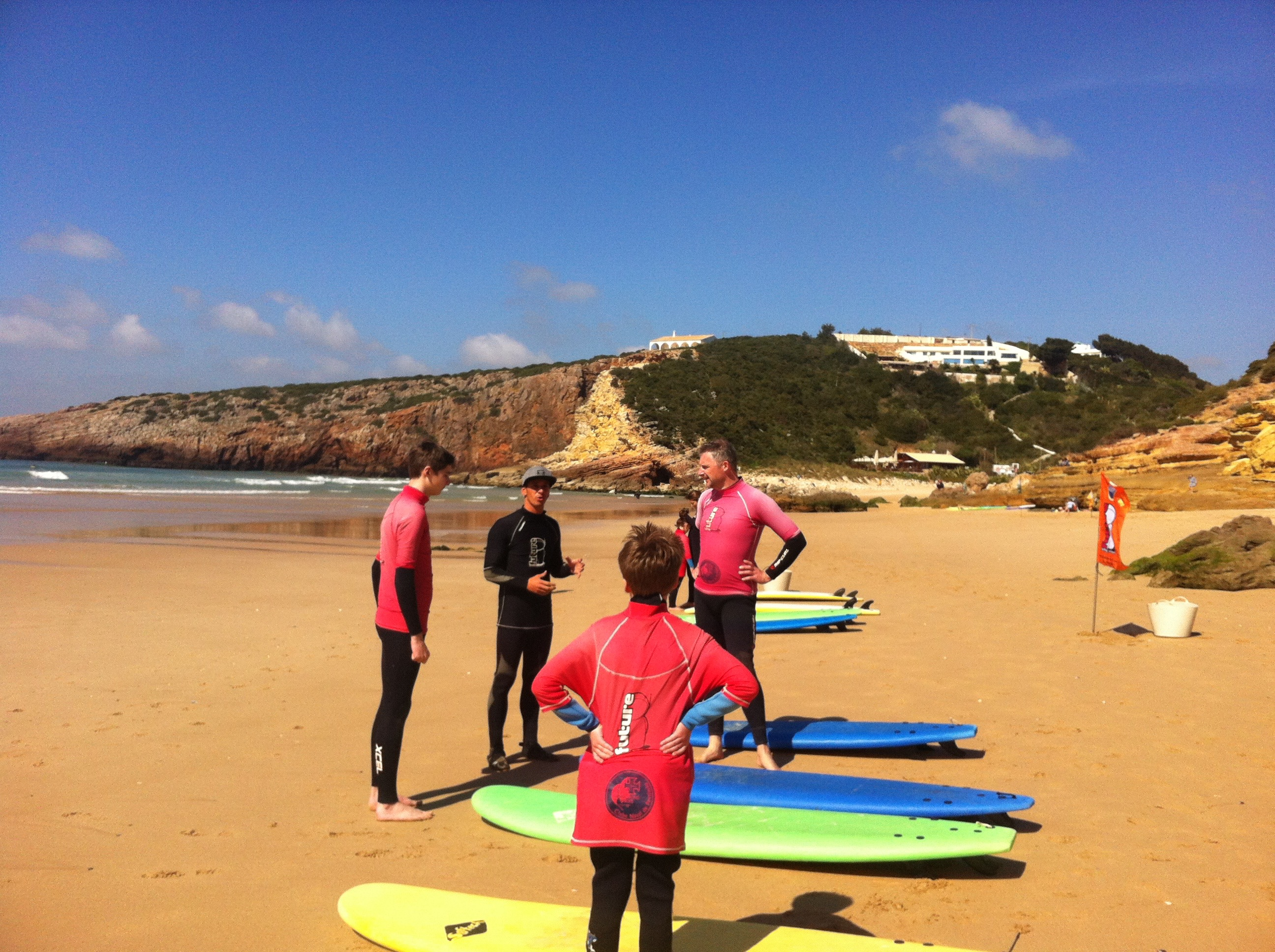 Surf lessons are offered at Martinhal Sagres