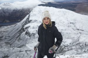 Nikki Bradley on Mt. Errigal