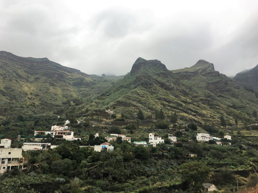 Gran Canaria Activities The view from the vineyard across the Valle de Agaete
