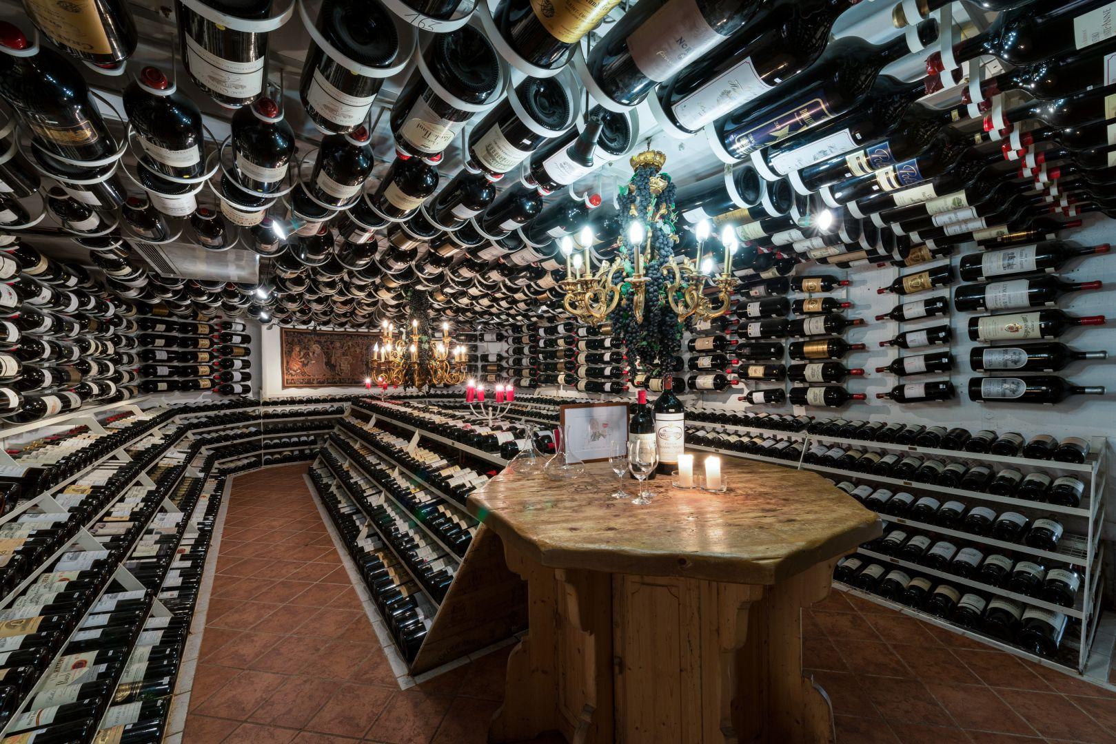 Apres ski st anton The wine cellar at Hospiz Alm