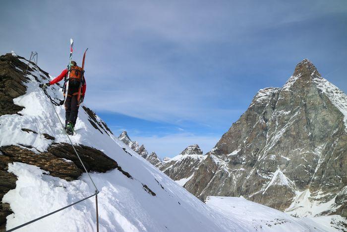 Best winter activities Zermatt via ferrrata