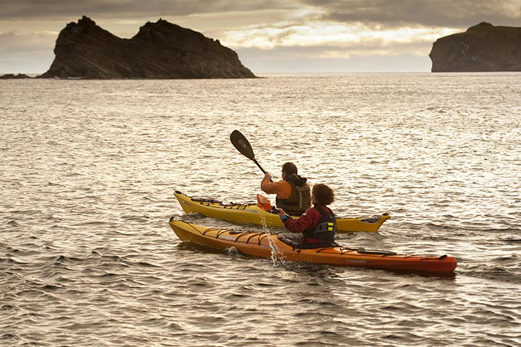 Kayaking in the East Inishowen Sea