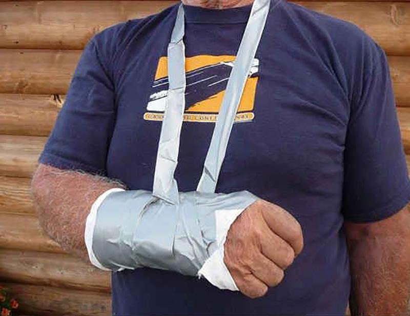 camping hacks gaffer tape sling