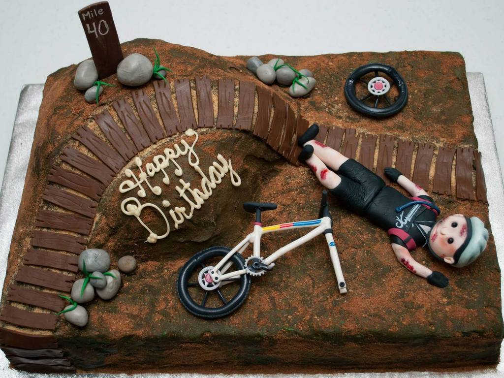 War Wounds cyclist cake