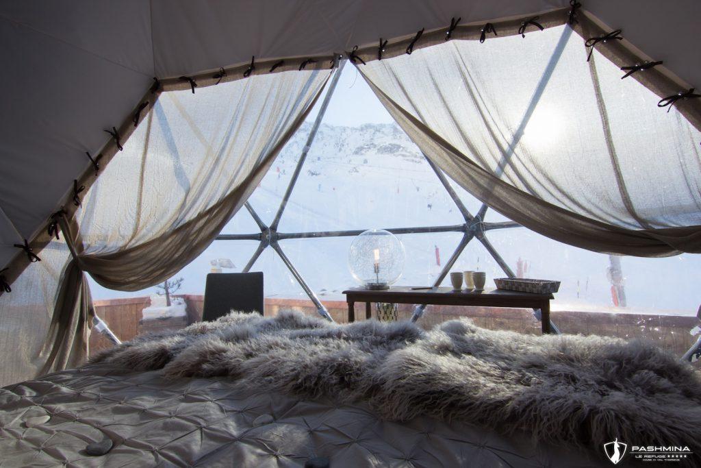 winter activities pashmina-hotel-de-luxe-val-thorens-igloo