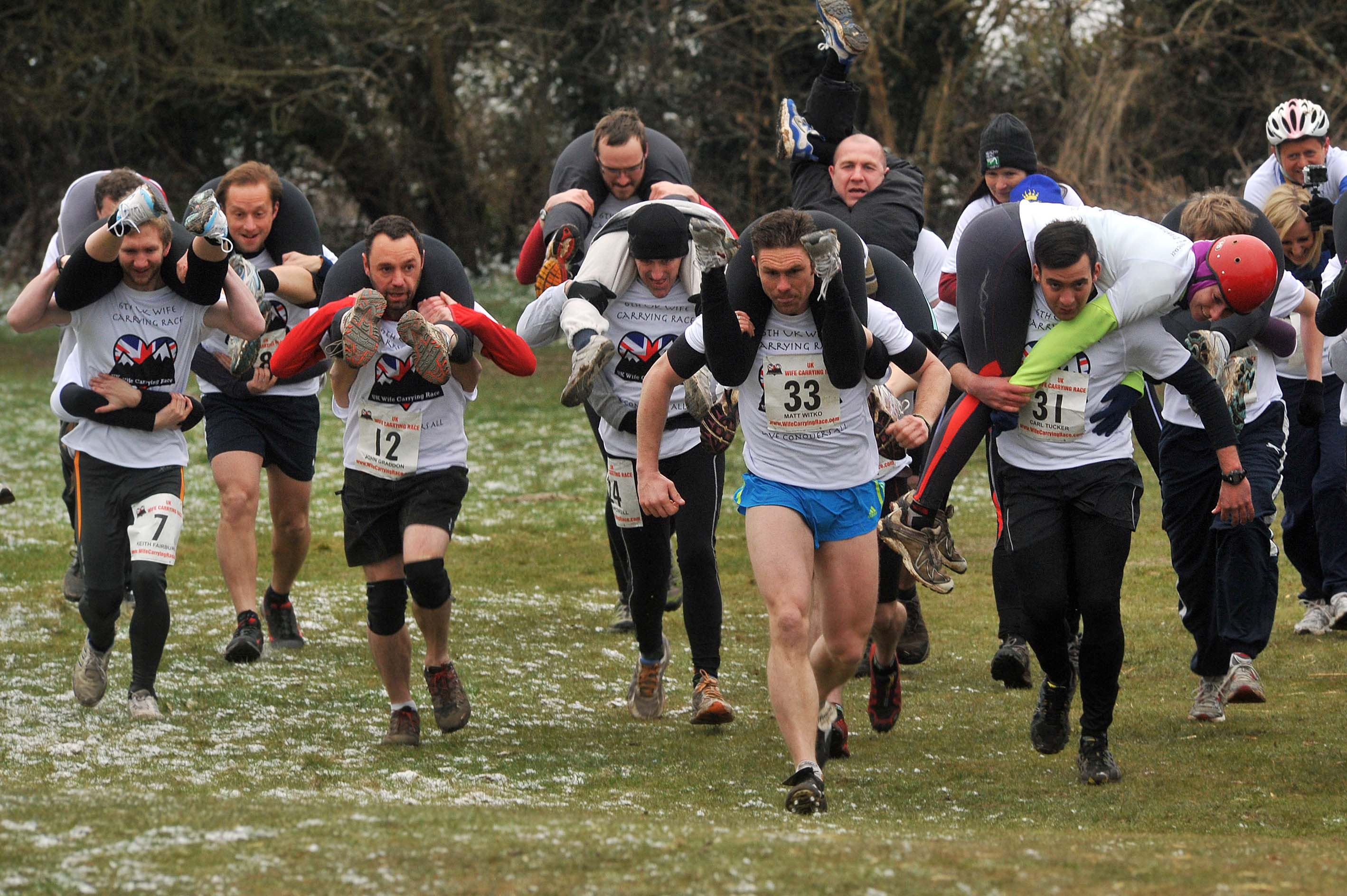 World's quirkiest events wife carrying championships