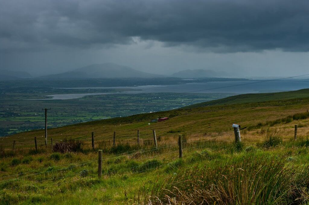 View from Slieve Mish Mountains