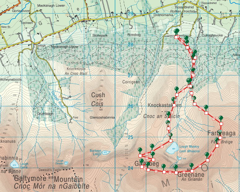 Lough Muskry Fearbreaga 13km Route