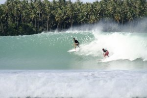 Surfing in Nias Indonesia