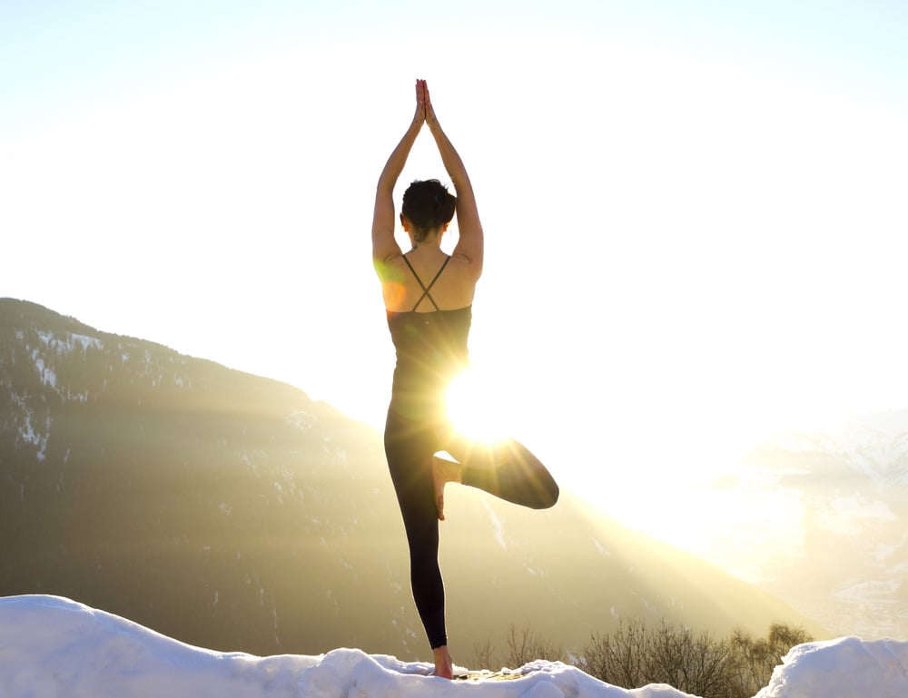 alternative ski holidays snow yoga