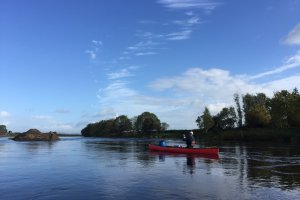 Canoeing on the River Foyle