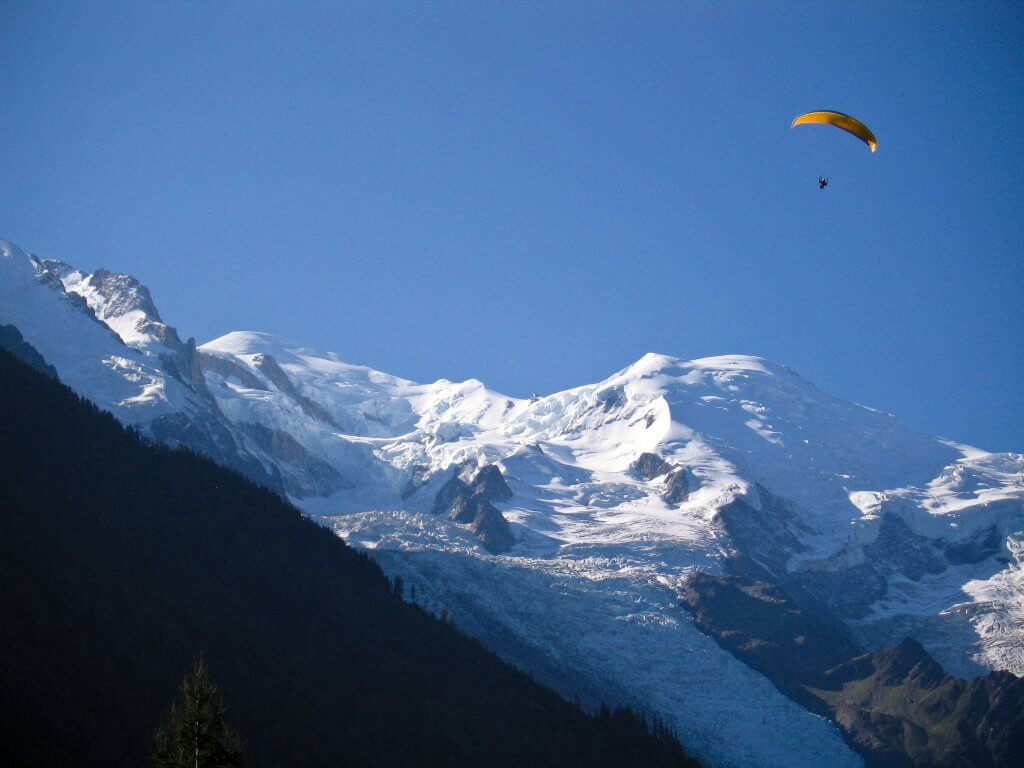 Paragliding Adventure off Mt Blanc