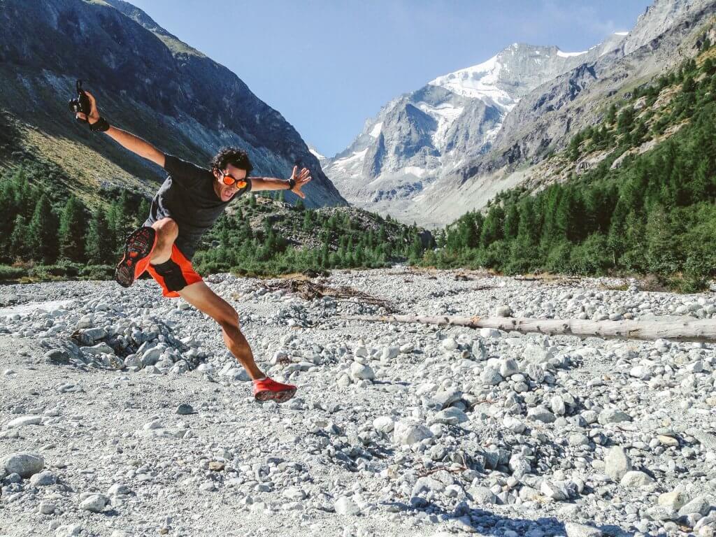 Kilian Jornet in the mountains