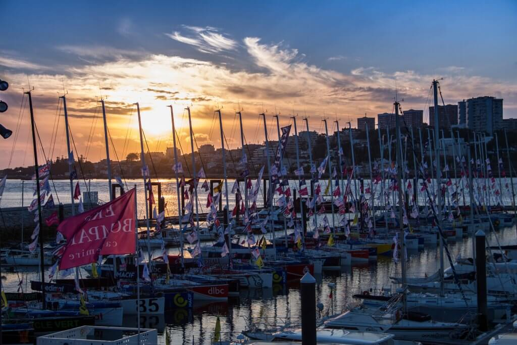 Sunset at the Solitaire du Figaro