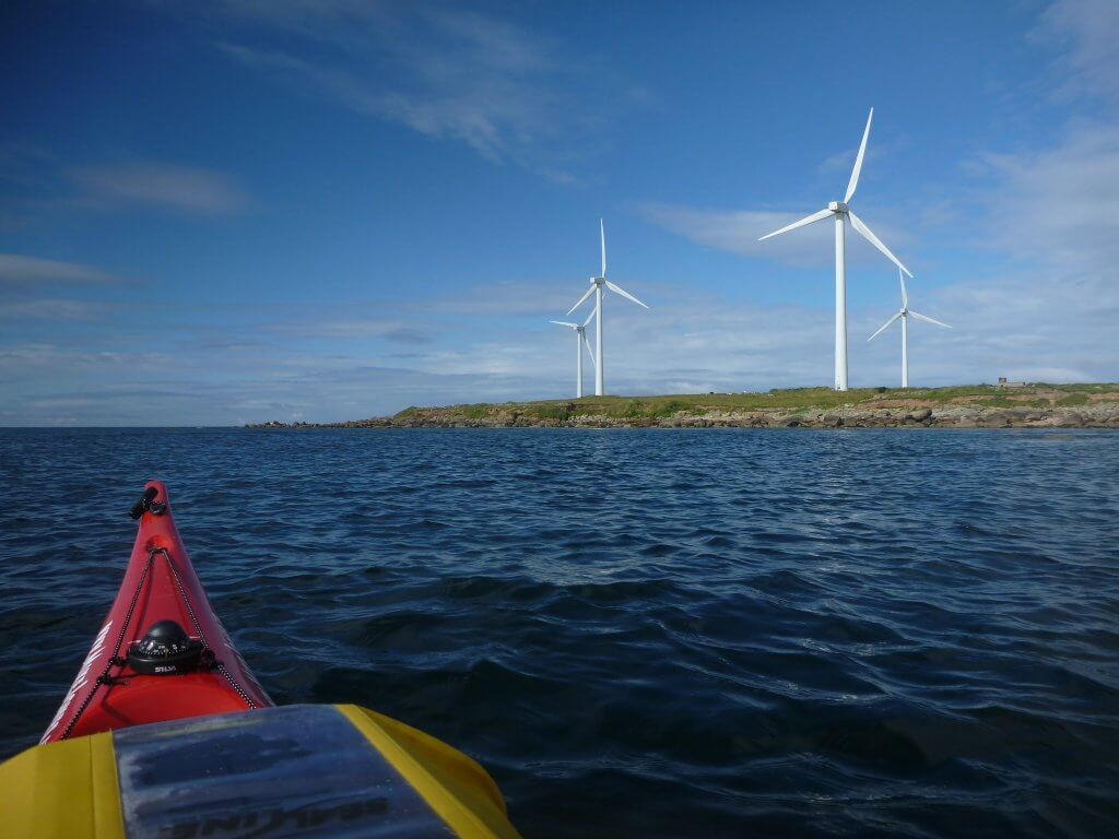 Wind turbines on the South East Corner near Carnesore Point.