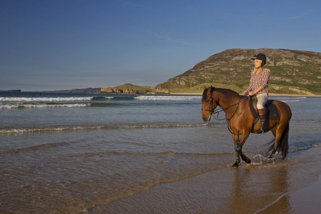 Horseriding at Tullagh Bay