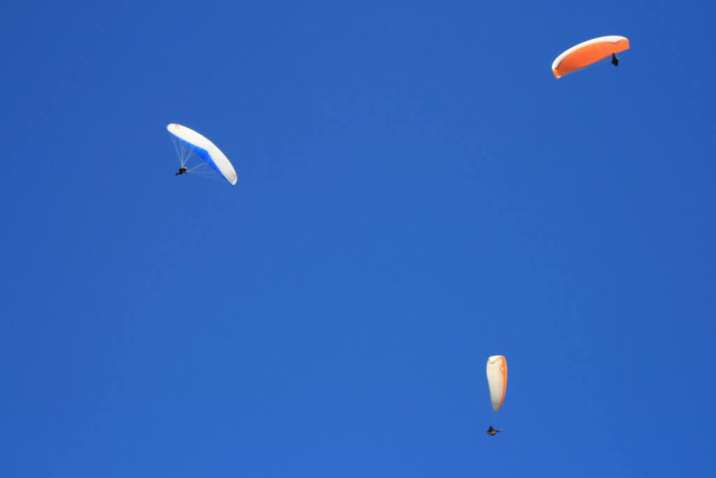 Flying at Treble Cone, Wanaka, New Zealand.