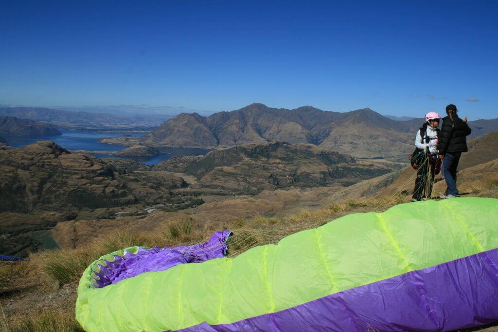 Paragliding at Treble Cone.