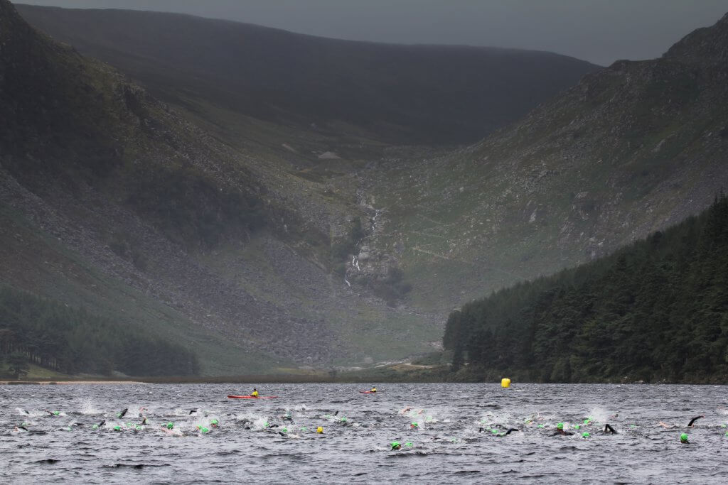 Open-water swimming with wetsuits