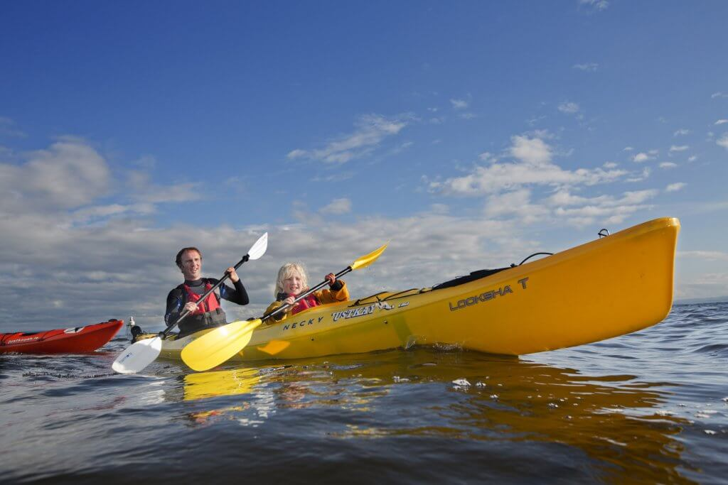 Kayaking in Moville