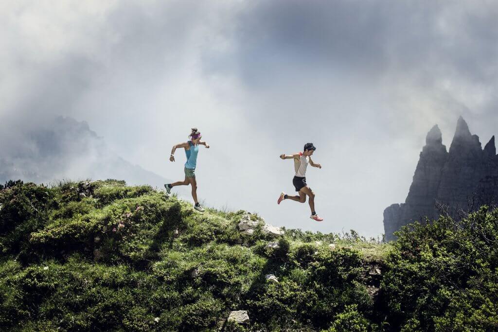 Kilian Jornet on an Alpine Ridge