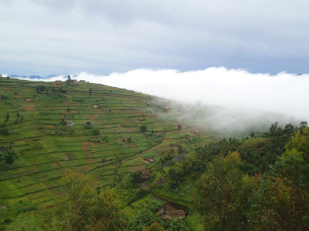 Misty hills near Lake Kivu.