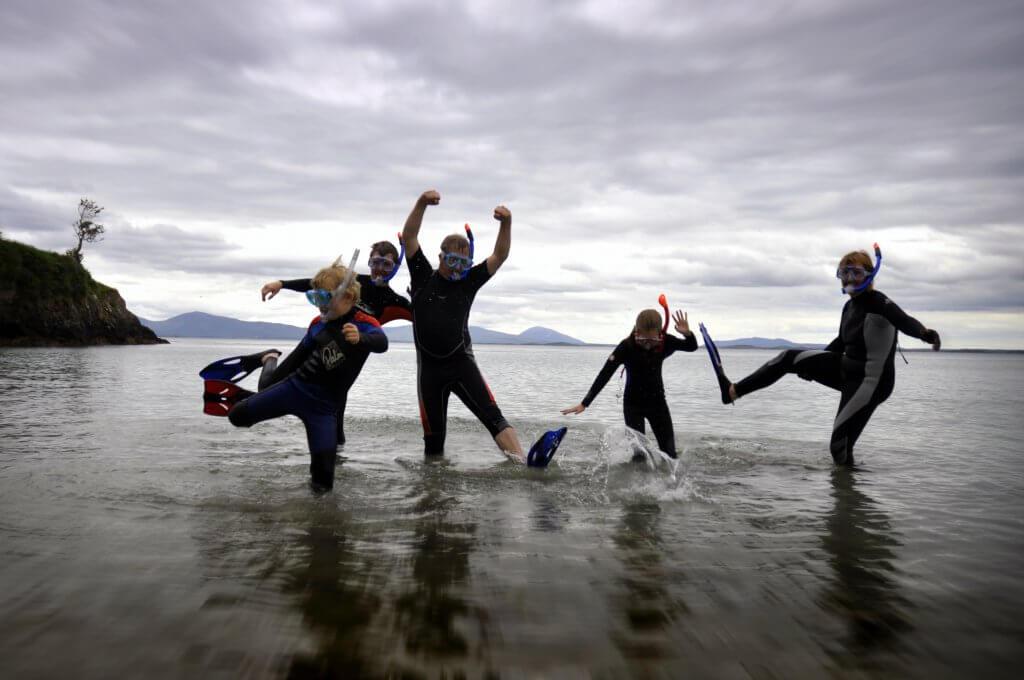 Delphi snorkelling kids