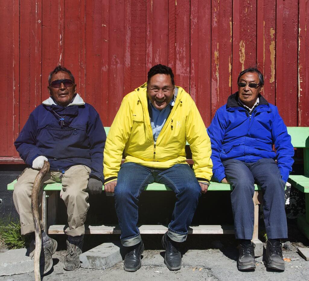 Grinning locals in Greenland