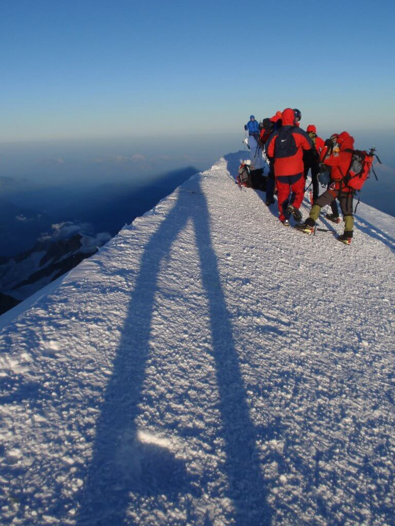 Mt Blanc summit climb.