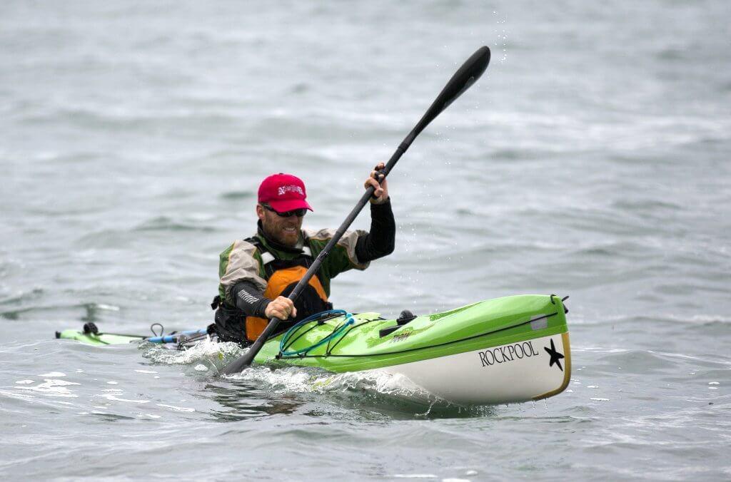 Mike O'Meara paddling