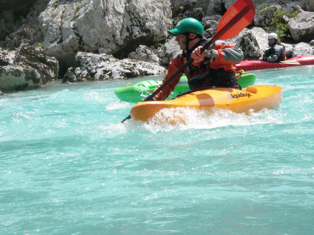 Fast waters, white water kayaking in Montenegro.