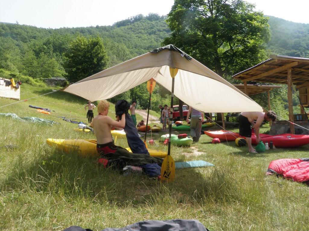 Camping in Tara Canyon