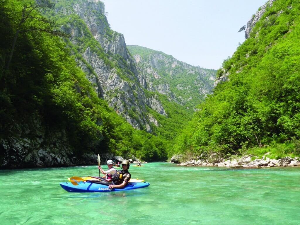 Kayaking in Tara Canyon, Montenegro