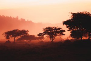 Sunrise in Kigali, Rwanda