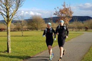 Couple Running the Camino