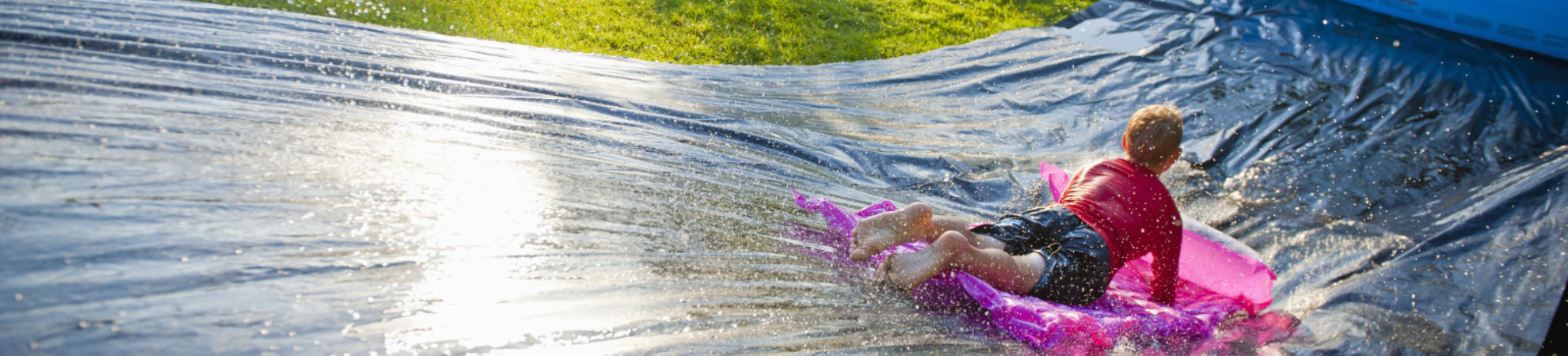 back garden activities -SLIP-N-SLIDE